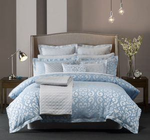 Silver Blue Bedroom boutique collection castillo silver blue bedding collection