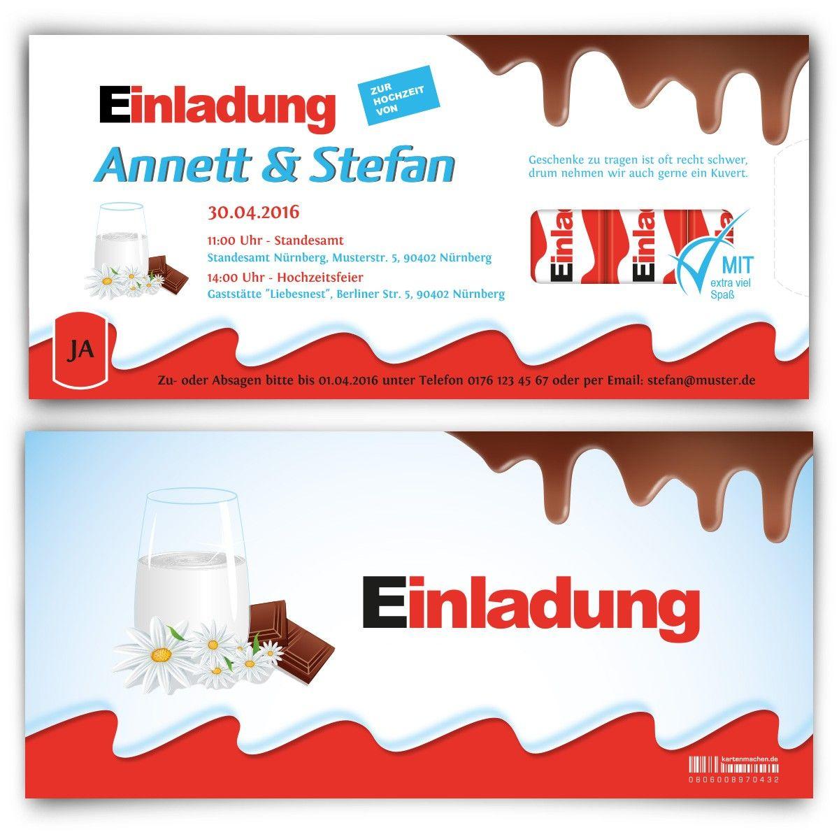 #Hochzeitseinladung Für Schleckermäuler U003c3 #hochzeit #papeterie #einladung  #feiern #schokolade