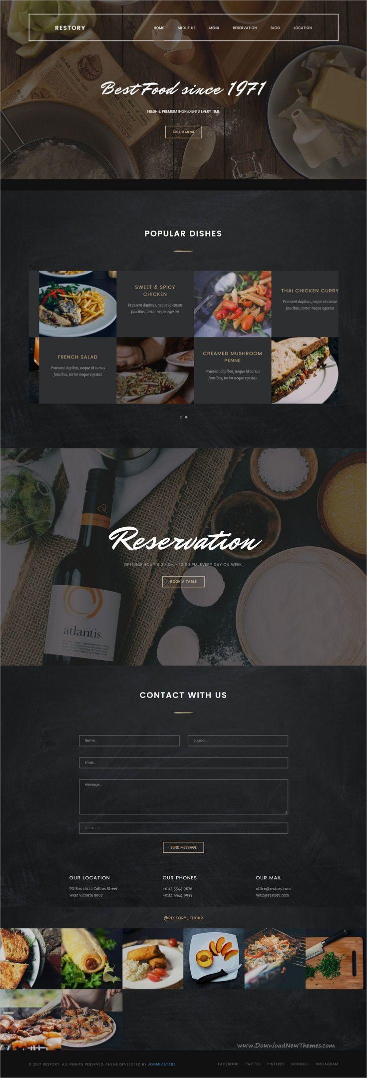 Restory is clean and modern design responsive Joomla
