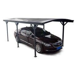 Carport En Aluminium Anthracite 3x5 05m Et Polycarbonate 6mm X Metal Abri Voiture Polycarbonate Ports De Voiture