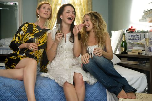 Still of Sarah Jessica Parker, Kristin Davis and Cynthia Nixon in Sex and the City (2008)