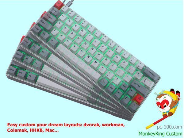 Customize Dream Layouts 60 Keyboard Dvorak Workman Colemak Hhkb Mac Compatible Mechanical Keyboard Custom Mechanic Keyboard