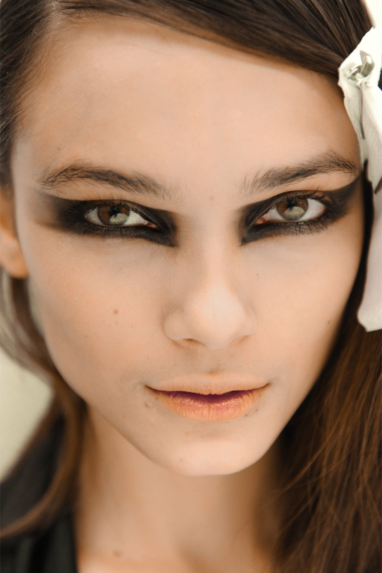 a Backstage look for Asha at Frankie Morello Fall 2012 RTW