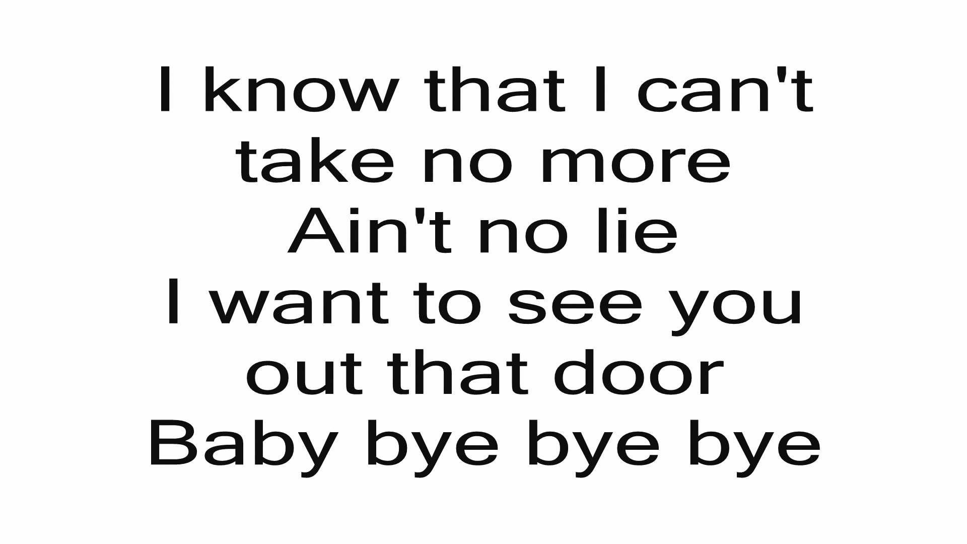 N Sync Bye Bye Bye Lyrics Lyrics Nsync Bye Bye