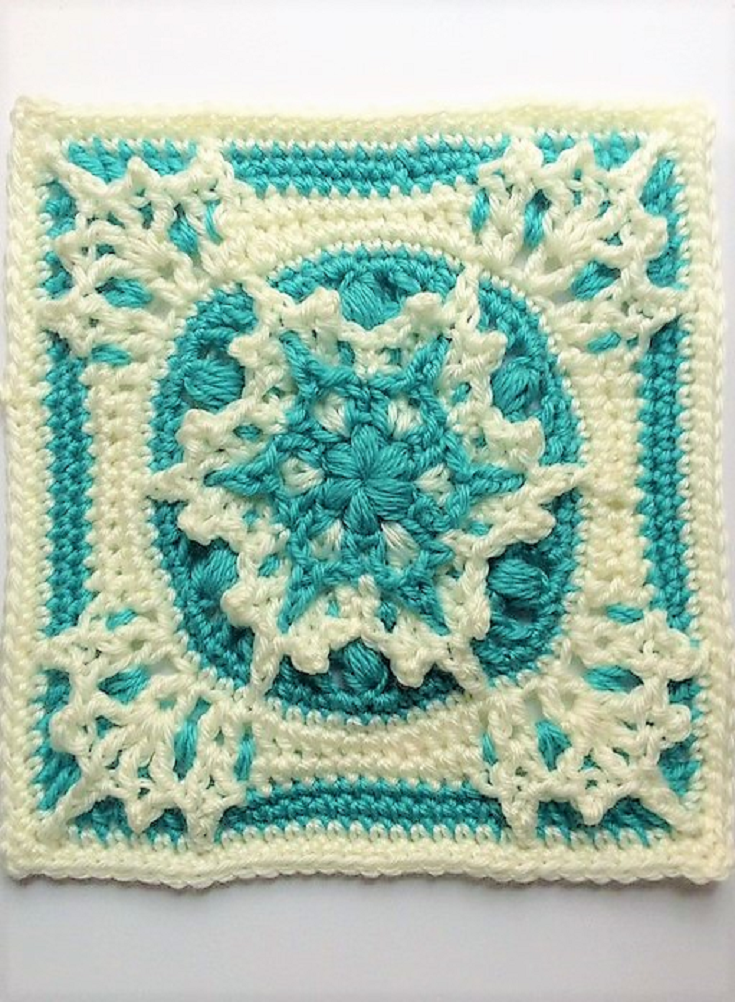 Free Pattern] This Blizzard Warning 9 Inch Square Is Absolutely ...