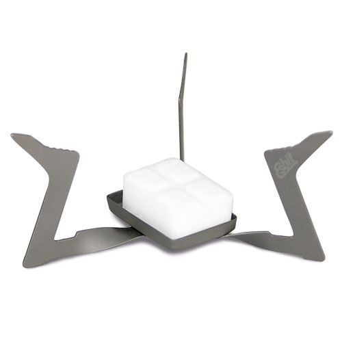 Esbit Titanium Solid Fuel Stove - Ultralight, foldable stove for solid fuel.  11g  $15