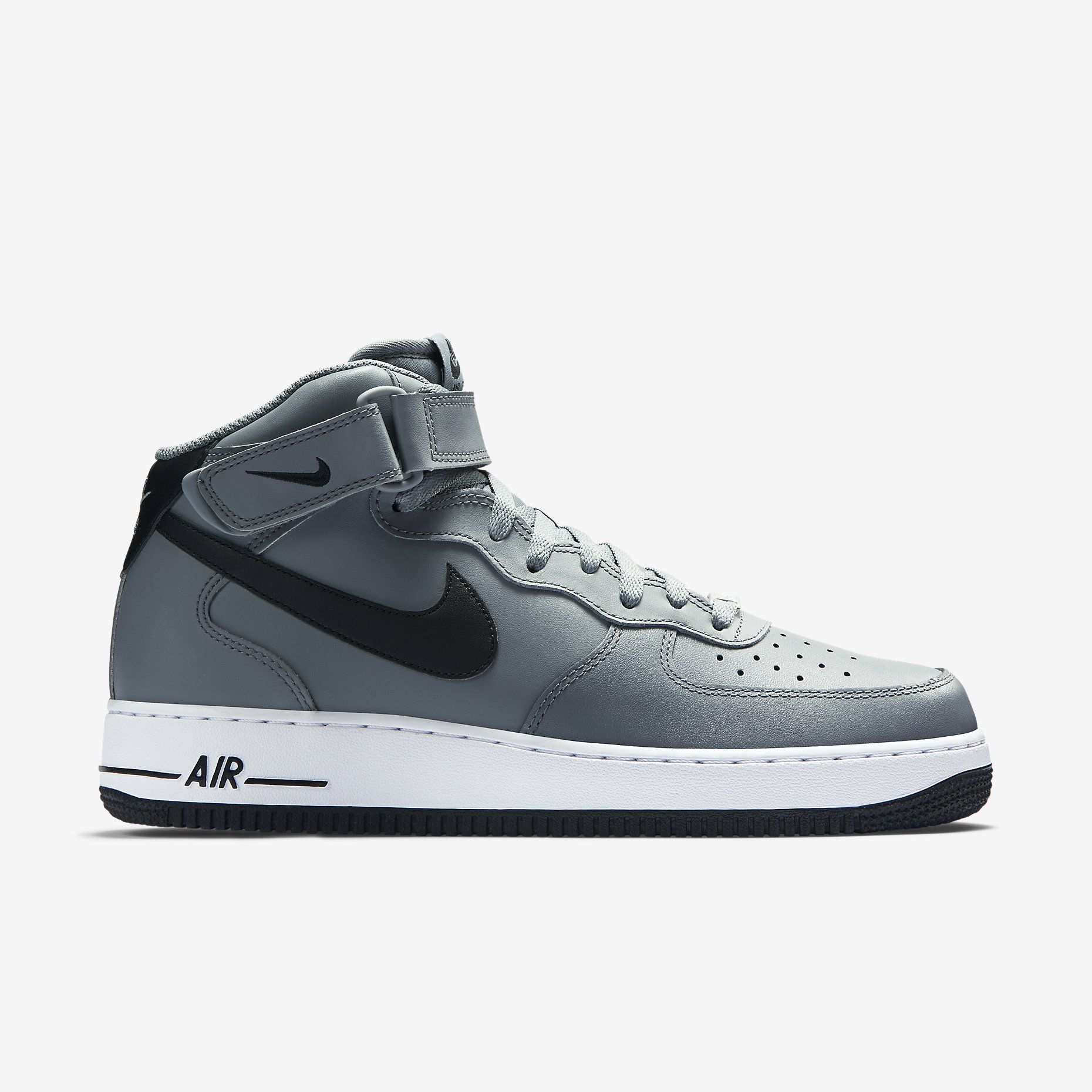 Nike Air Force 1 Mid 07 Men S Shoe Cool Grey White Black Nike Shoes Mens Nike Air Force