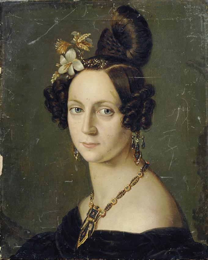 Unbekannter Künstler, Elisabeth Josefine Rizzi-Petke, um 1830, Öl auf Leinwand, 38,5 × 31 cm, Belvedere, Wien, Inv.-Nr. 5210