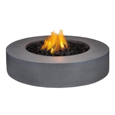 Real Flame Mezzo 42 In Round Flint Gray Propane Gas Fire Pit 9660lp Fg At The Home Depot Propane Fire Pit Table Round Propane Fire Pit Gazebo With Fire Pit