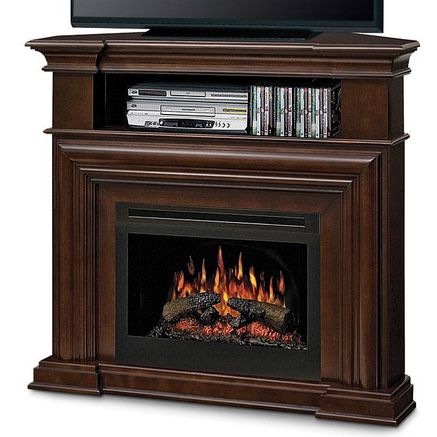 Dimplex 174 Petra Corner Electric Fireplace And Tv Console Corner Electric Fireplace Electric