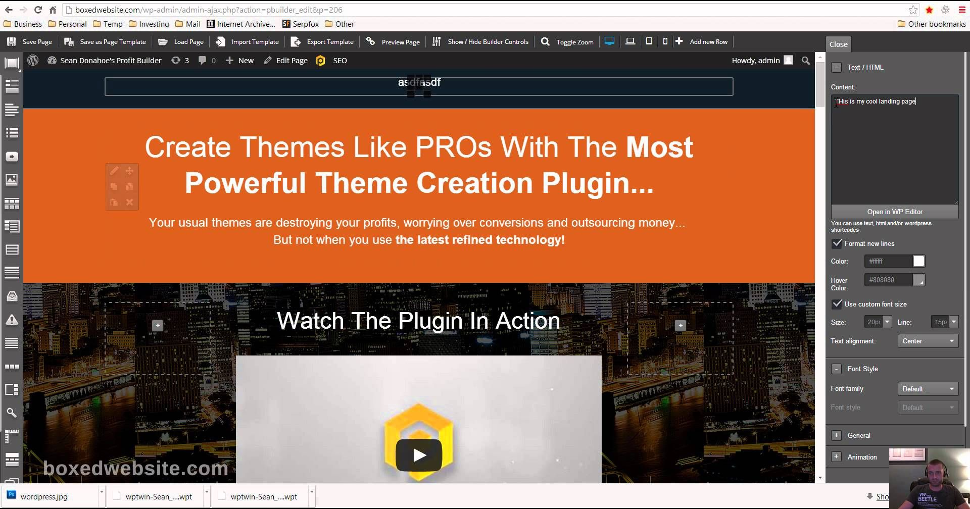 How To Design Landing Pages In WordPress - Youtube
