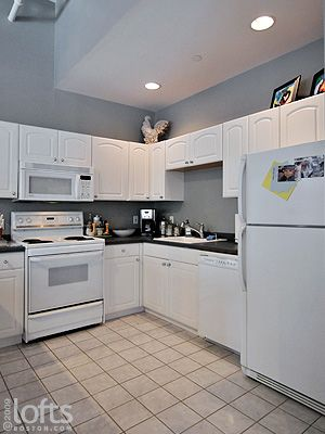Should I Paint My Kitchen Cabinets White Planning This Cool Grey Wall Color But Have Countertops As Well Liances