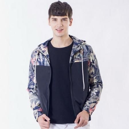 b4fd3c8c477 Flower Printed New 2018 Jacket Men Fashion Casual Loose Outwear Mens  Jacketeosewe
