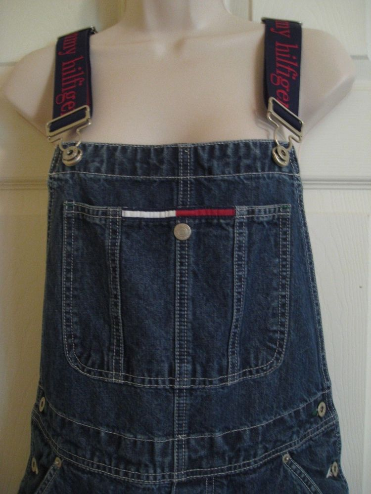 Vintage 90's Tommy Hilfiger Overalls Carpenter Women's Large