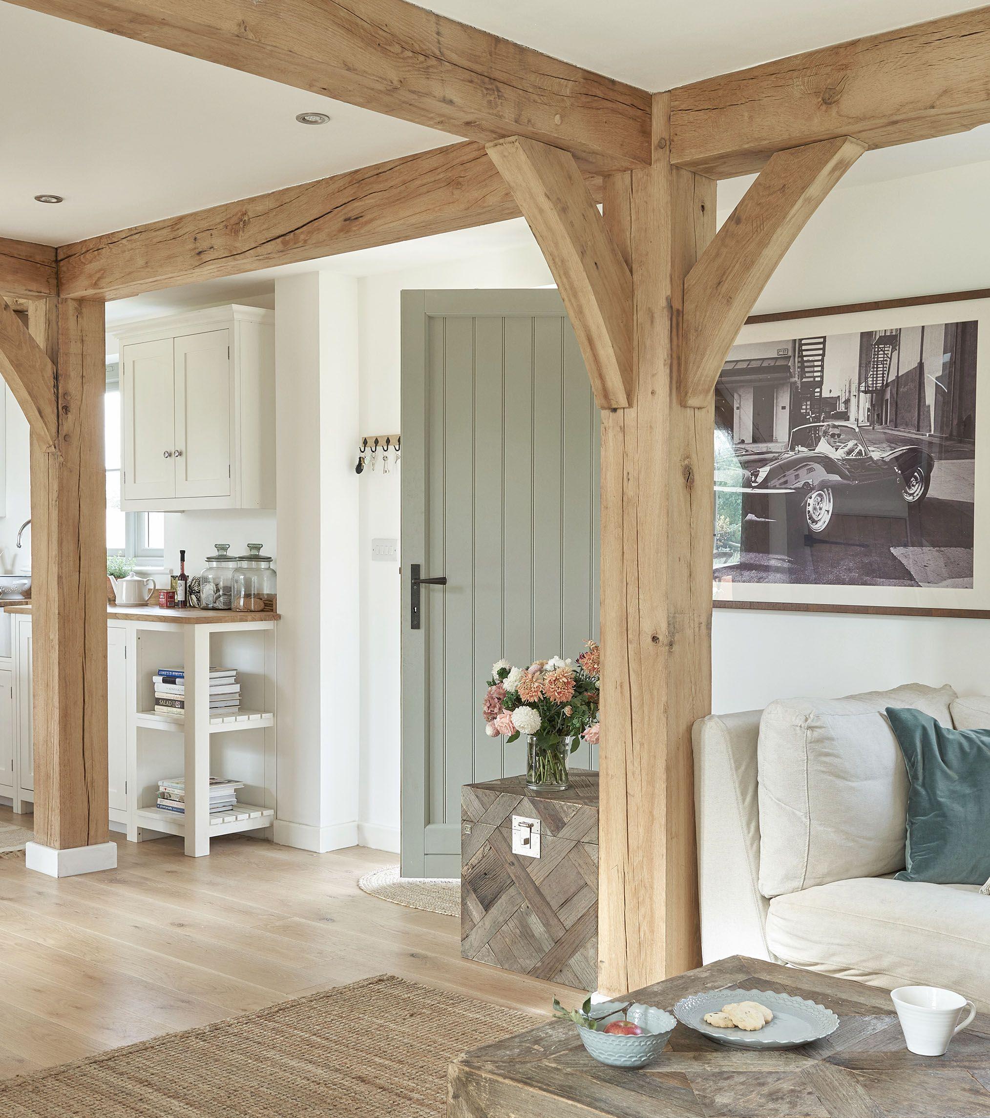 Border oak painted door oak kitchen lounge
