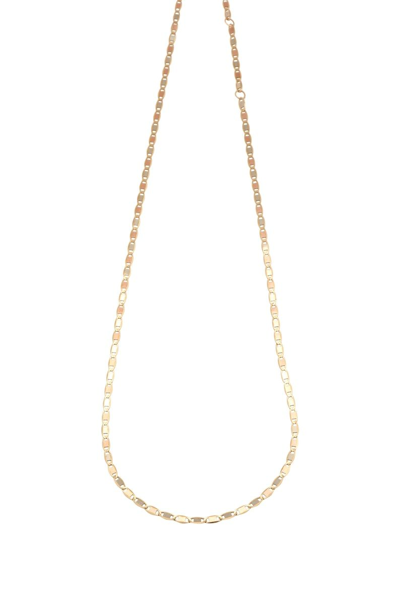 Loren Stewart Tricolor Gold Necklace Gold Necklace Chain Link Necklace Necklace