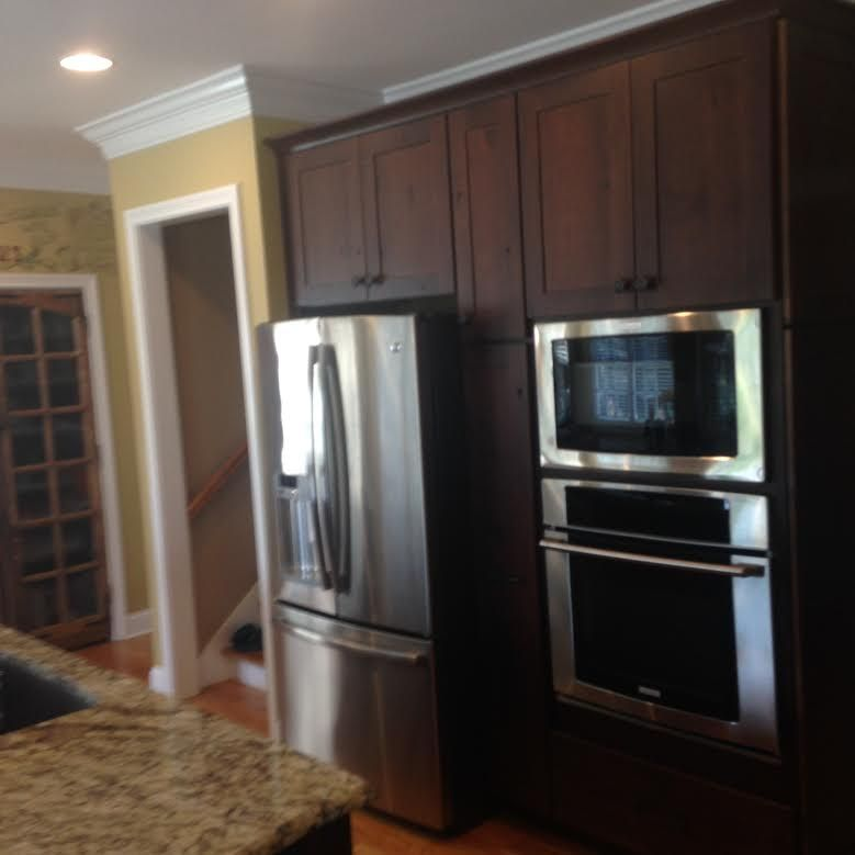 Best Kitchen Cabinet Kemper Cabinets Larsen Rustic Alder 400 x 300