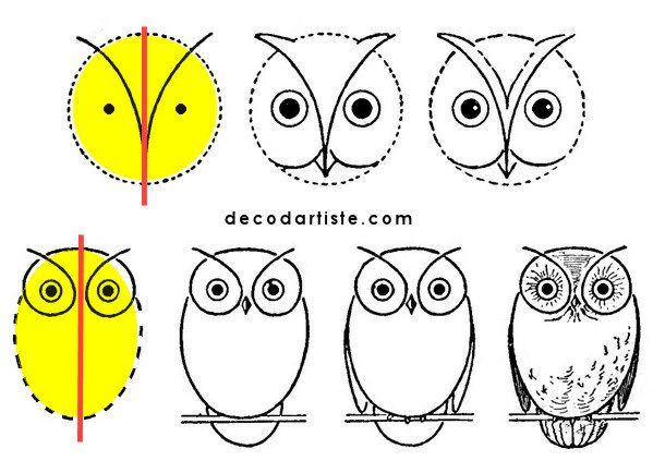 Chouette dessin2 dessiner en s 39 amusant dessin facile animaux dessin et dessin chouette - Chouette a dessiner ...