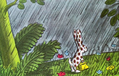 → Spotty written by Margret Rey, illustrated by H.A. Rey (1945).