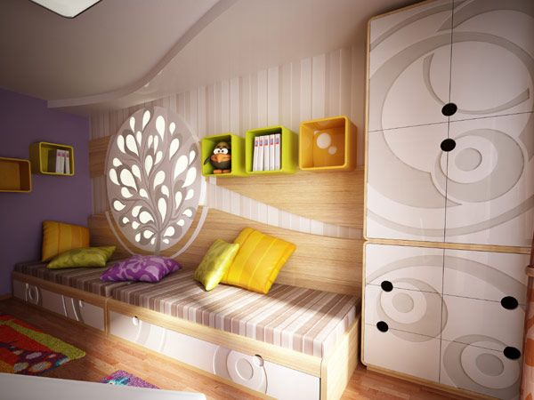 Bedroom Entrancing Kids Room With Grey Wardrobe Green Bookcase Pillow Design Laminate Flooring With Rug With Images Childrens Bedrooms Design Room Design Whimsical Bedroom