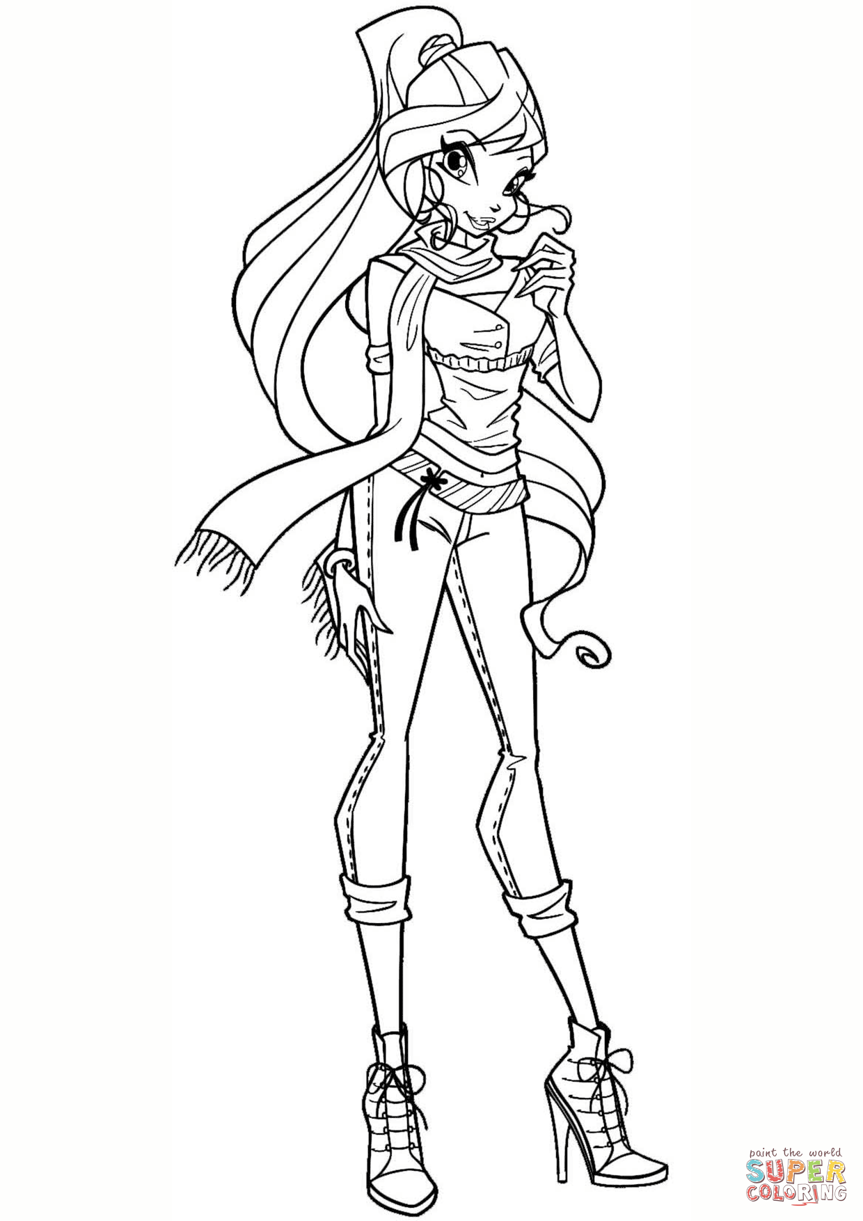 Winx Coloring Pages With Winx Bloom Page Coloring For Kids Pinterest