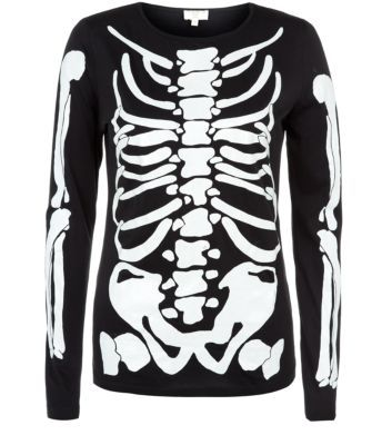 For a costume with a difference, this skeleton top is a great a