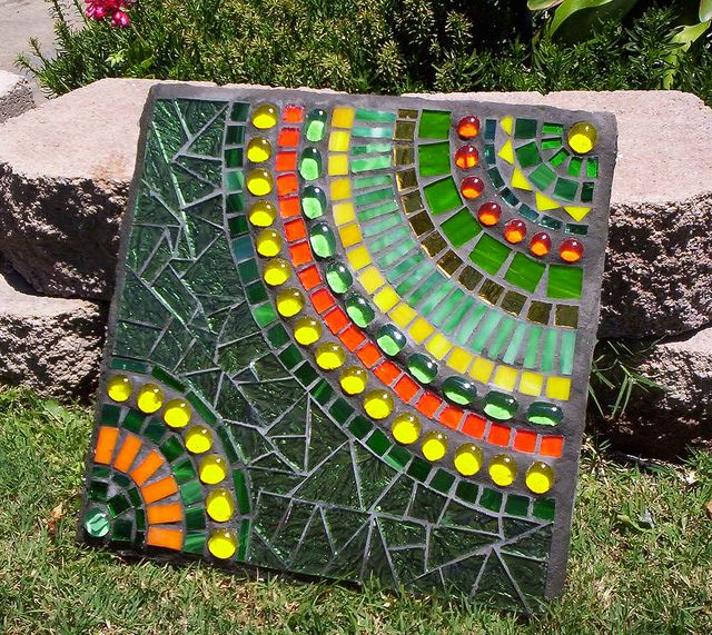 Green Stepping Stone | Mosaics, Gems and Stone