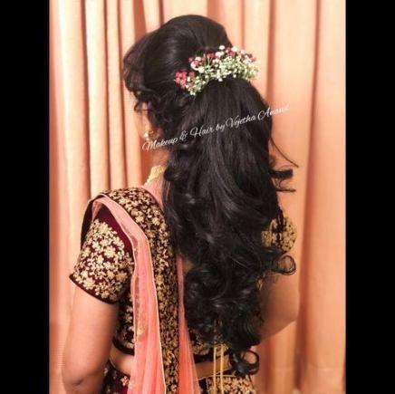 Bridal Hairstyles For Lehenga 50 Ideas Wedding Reception Hairstyles Hair Styles Lehenga Hairstyles