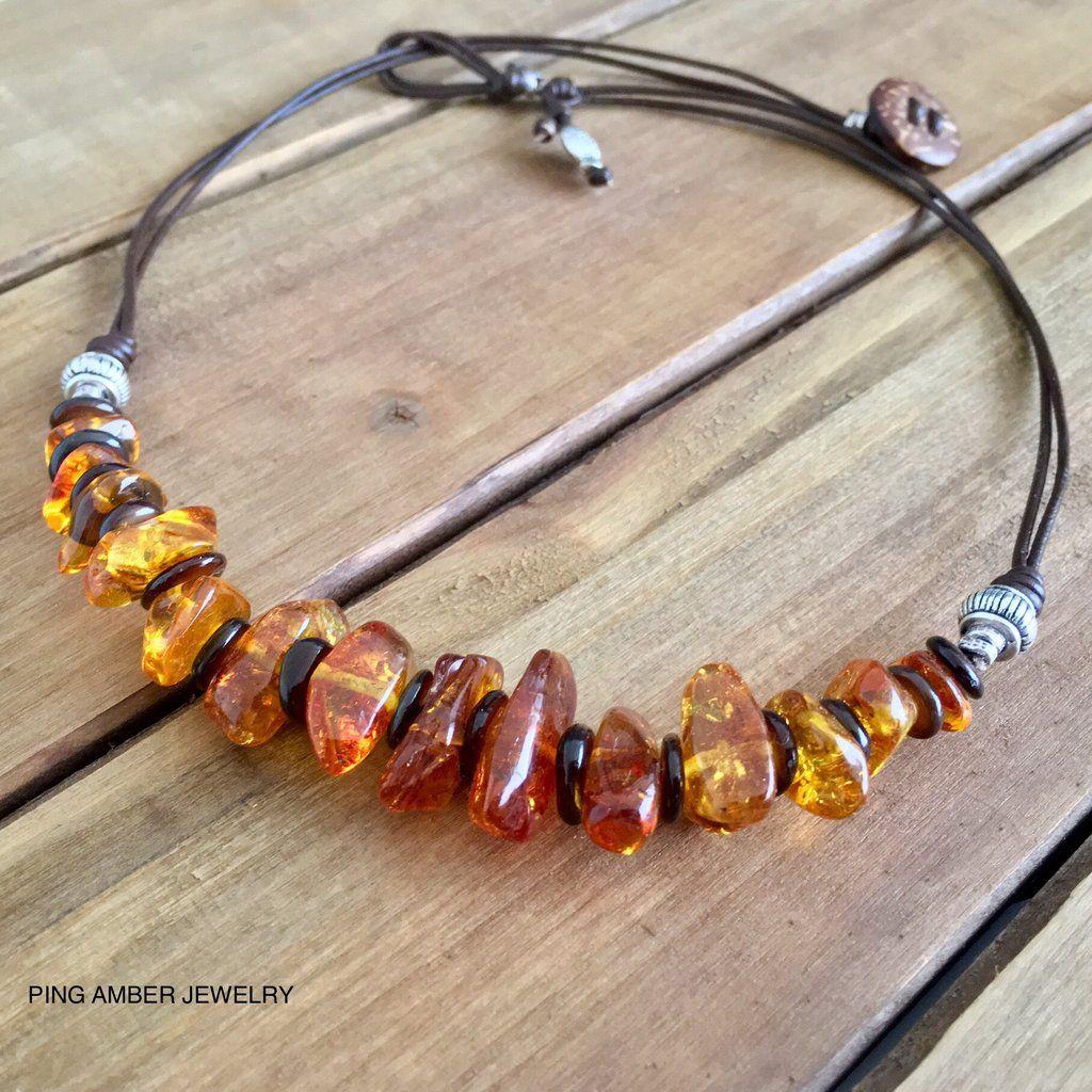 Baltic Amber Teething Necklace Gumstone
