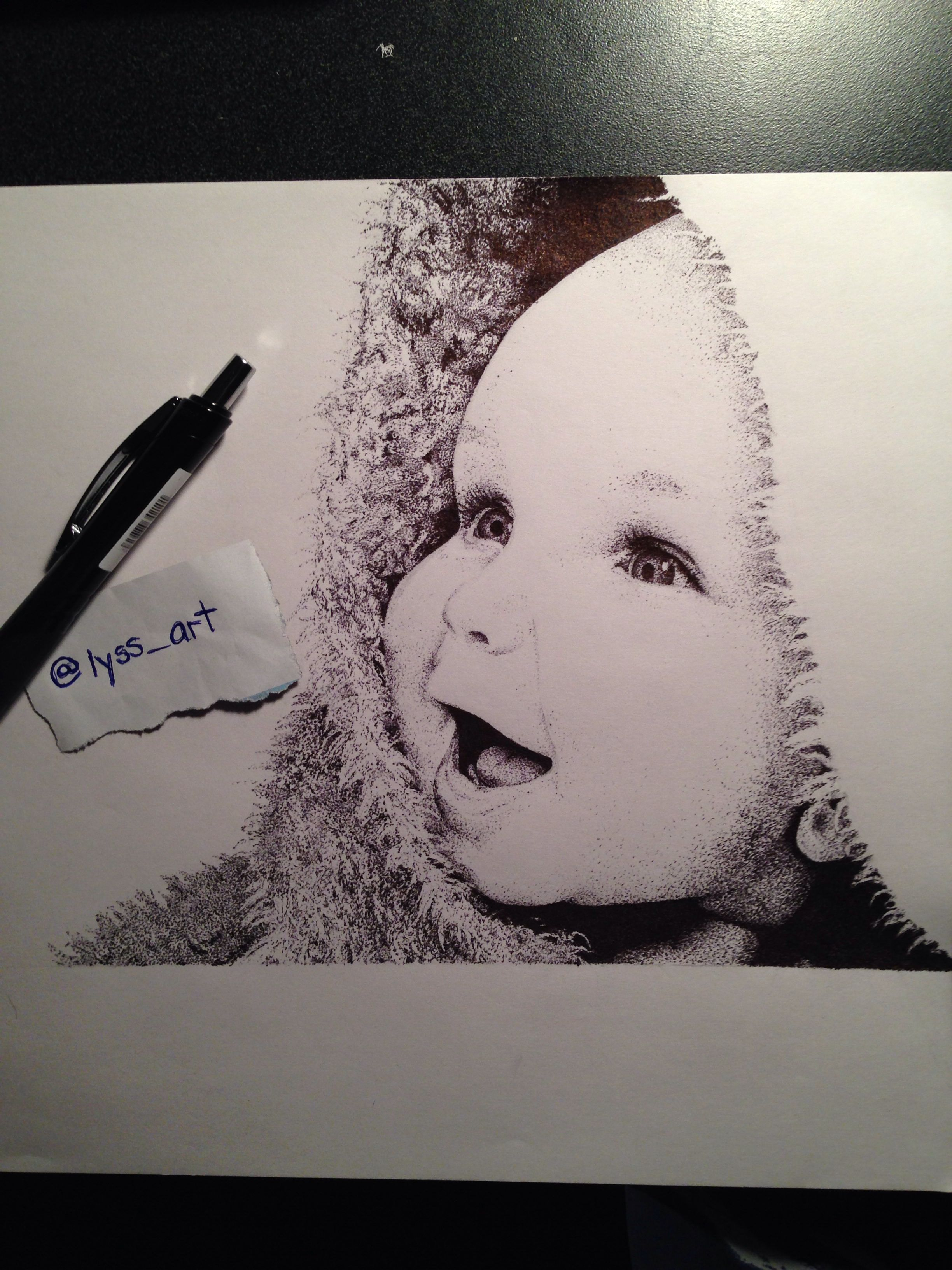 Pointillism Dot Art Drawing