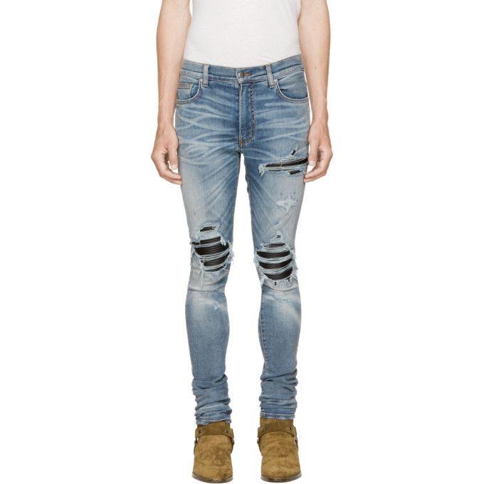 ripped biker jeans - Pink & Purple Amiri 6gVZ14X0Pi