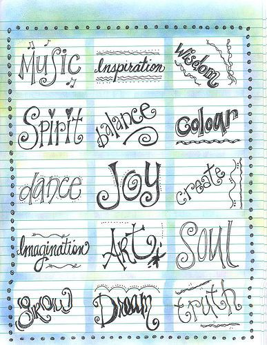 Lettering Styles Calligraphy Other Fancy Writing Styles