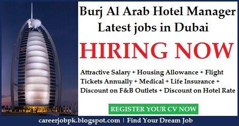 Burj Al Arab Hotel Manager Jobs In Dubai 7 Star Burj Al Arab