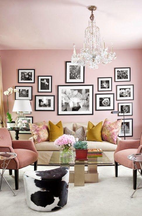 weiss schwarz rosa wohnzimmer, achados de decoraÇÃo - blog de decoração: romantismo na decoraÇÃo, Design ideen