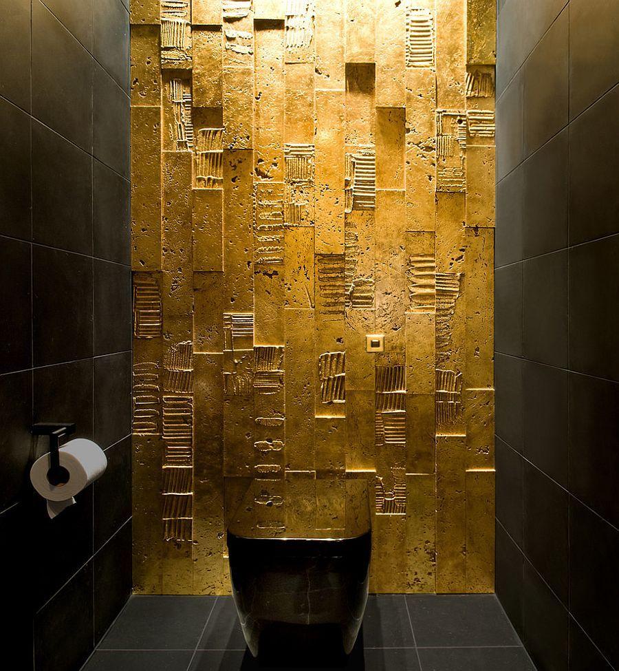 Idee Salle De Bain Epuree ~ d coration int rieure wc toilettes salle de bain gold dor or