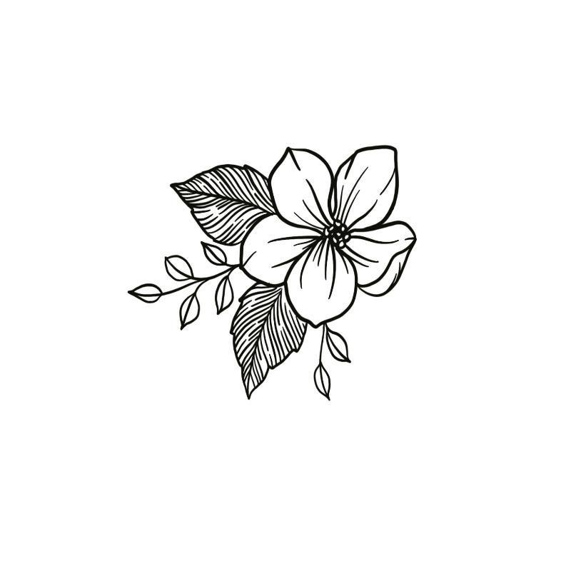 Hibiscus Line In 2020 Hibiscus Flower Tattoos Flower Tattoos Simple Flower Tattoo