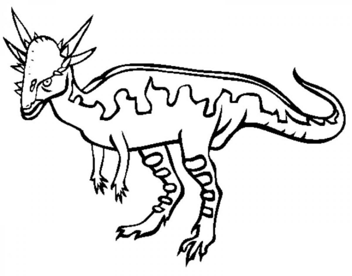Printable dinosaur coloring pages - Stygimoloch Dinosaur Coloring Pages Printable Jpg 1200 942
