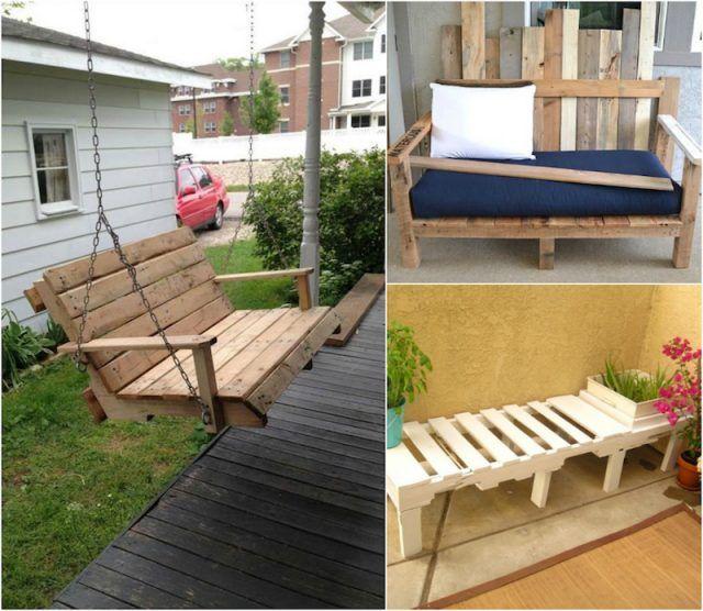 Faire un banc en palette de bois et le décorer soi-même- les top