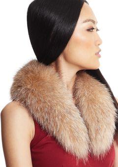 380141cec51 Surell crystal fox fur Lila Collar