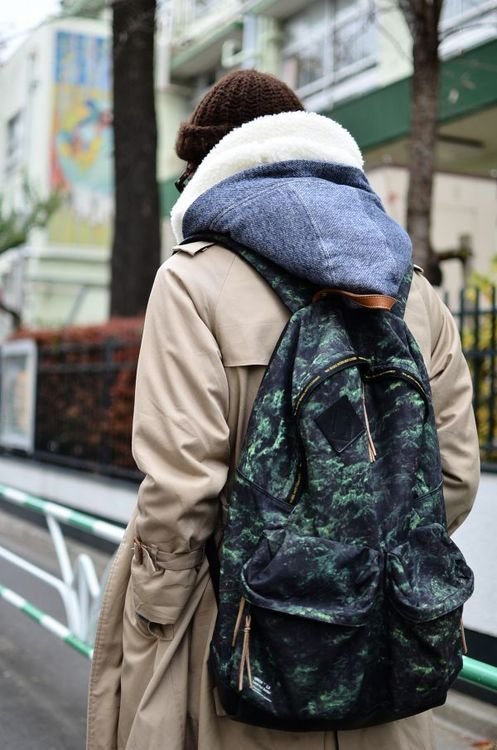 "Undercover ss10 ""Nature Camo"" backpack"