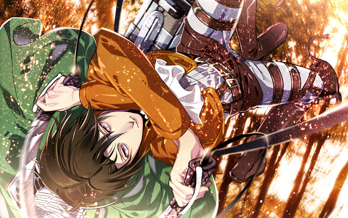 Download Wallpapers Levi Ackerman 4k Manga Attack On