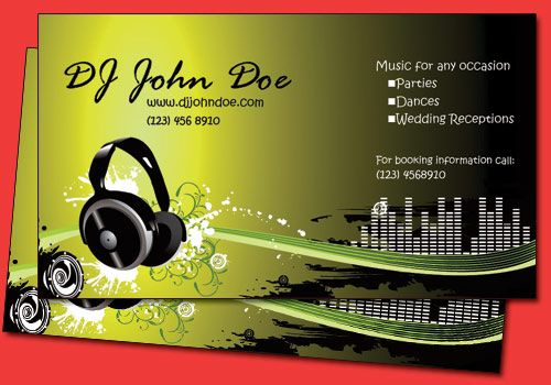 6 funky dj business card templates jnaiti pinterest business card templates. Black Bedroom Furniture Sets. Home Design Ideas