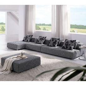 TOSH Furniture 4Piece Zebrano Gray Living Room Set  indoor