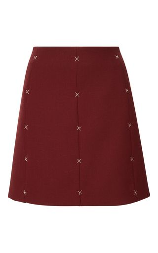 Wool A Line Mini Skirt by MUGLER for Preorder on Moda Operandi