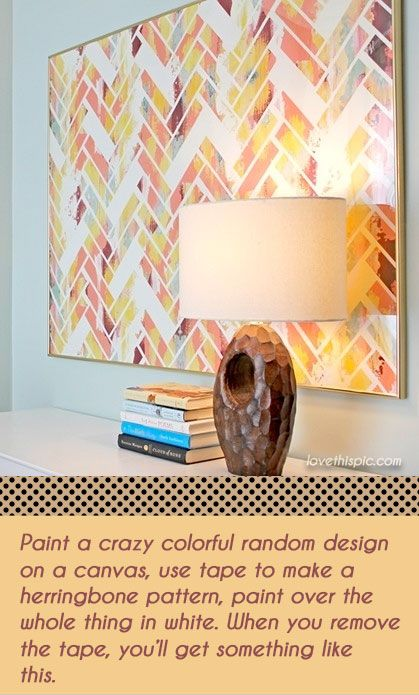 Geometric Abstract Art home art abstract wall diy craft crafts tape easy crafts crafts ideas diy ideas diy crafts crafty easy diy geometric masking