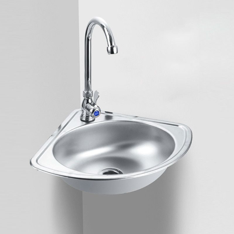 Discount Lavabo De Bao De Esquina Triangular De Acero Inoxidable Lavabo Pequeo Y Grueso Montado Sinks For Sale Wash Basin Bathroom Sinks For Sale