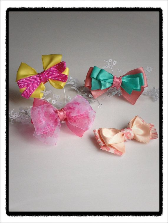 Summer satin hair clips  You pick two by SayYouLove on Etsy, $6.50