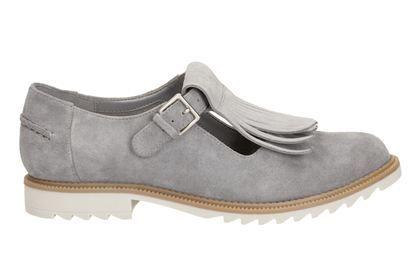 Clarks Orginals Ladies Blue T Bar Shoes