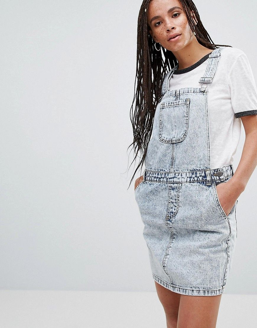 7ac1373d54 Noisy May Lara Denim Overall Mini Dress - Blue