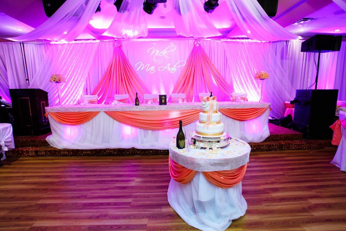 Orange traditional wedding decor  Wedding DecorPhoto by DIVA Studios divamedia divadecor